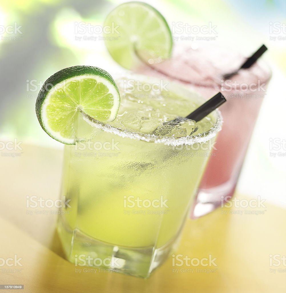 Margaritas with lime royalty-free stock photo