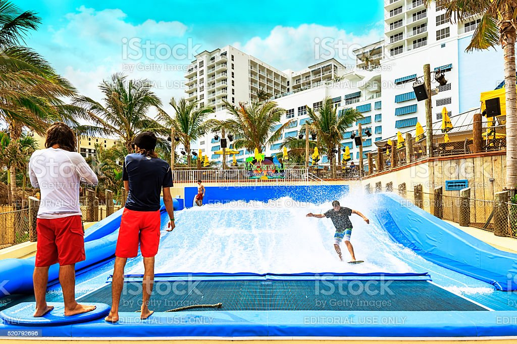 Margaritaville Hollywood Beach Resort stock photo
