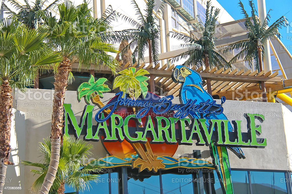Margaritaville restaurant-gift shop  in Las Vegas stock photo