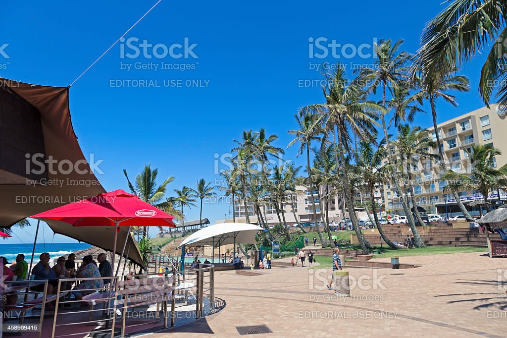Margate Beach in South Africa royalty-free stock photo