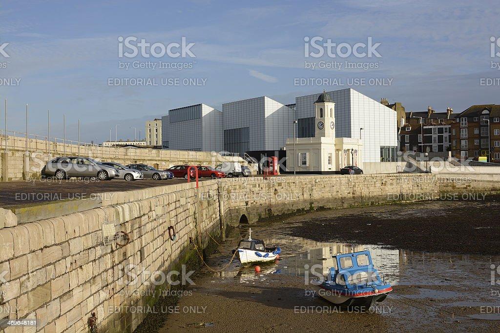 Margate harbour. Kent. England stock photo