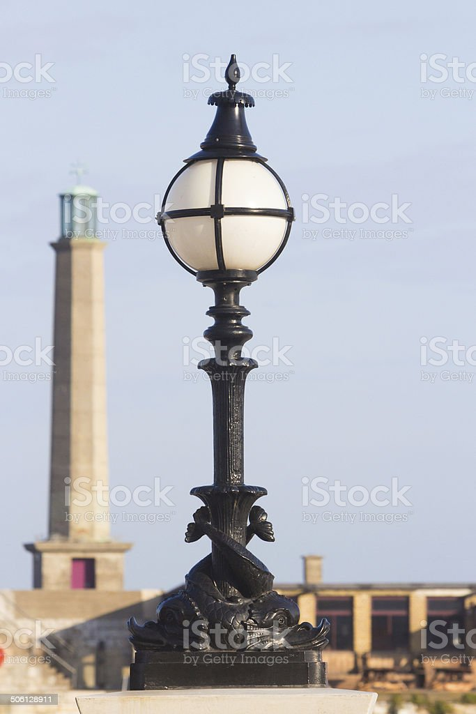 Margate Lighthouse in Kent, England royalty-free stock photo
