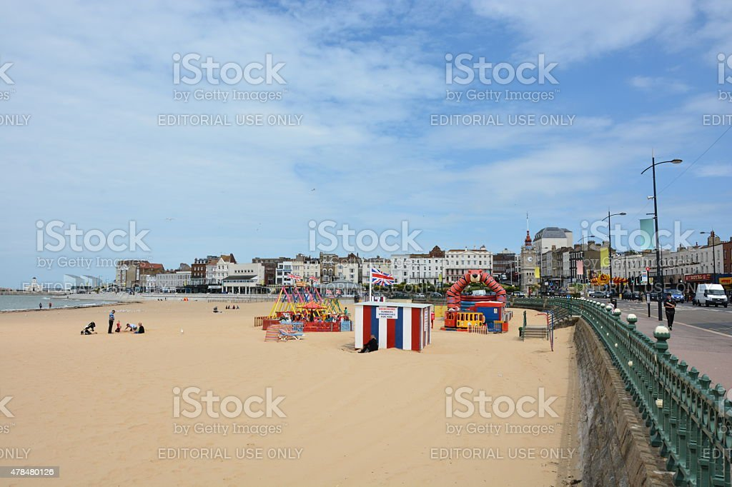 Margate Sands stock photo