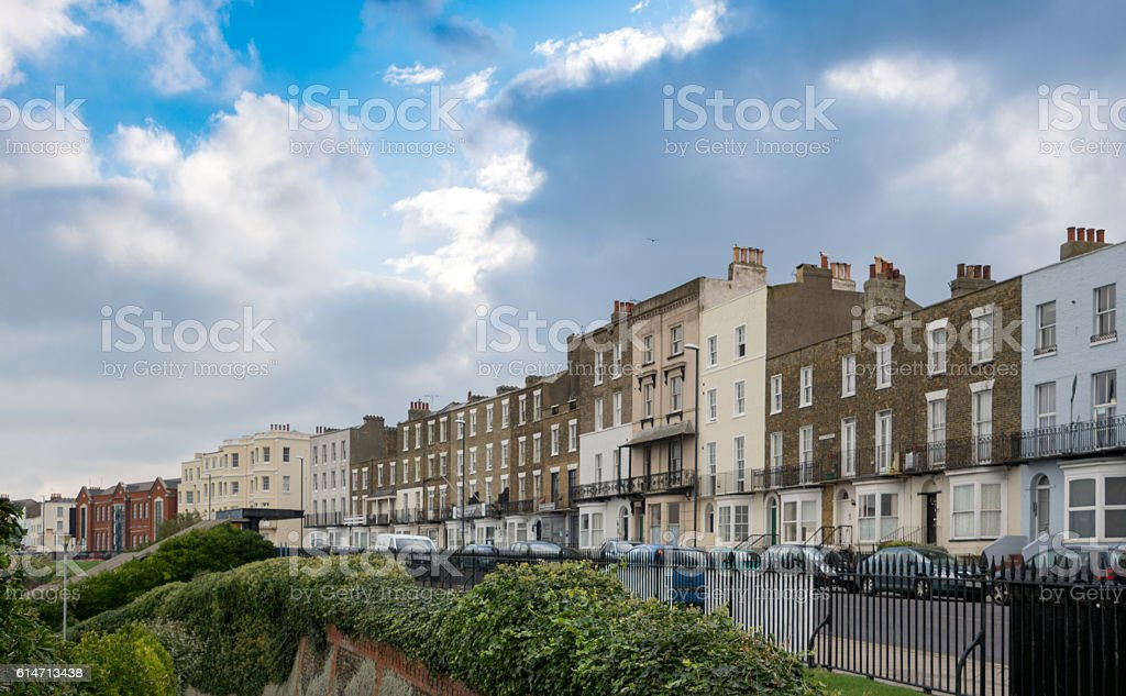 Margate seafront and buildings in Kent, UK stock photo