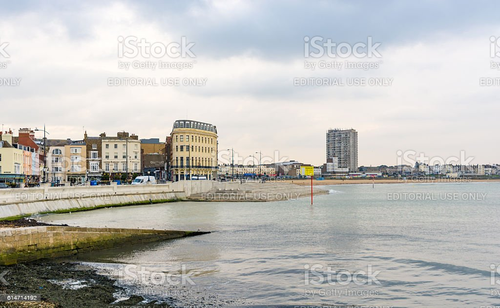 Margate Seafront and Town Centre, Kent stock photo