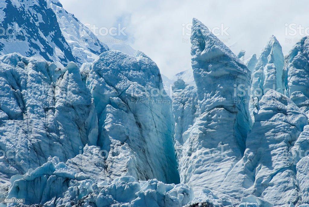 Margerie Glacier at Glacier Bay National Park, Alaska stock photo