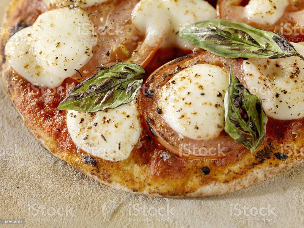 Margharita Pizza on Flat Bread royalty-free stock photo