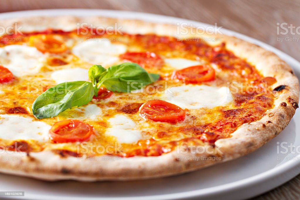 Pizza margherita. stock photo