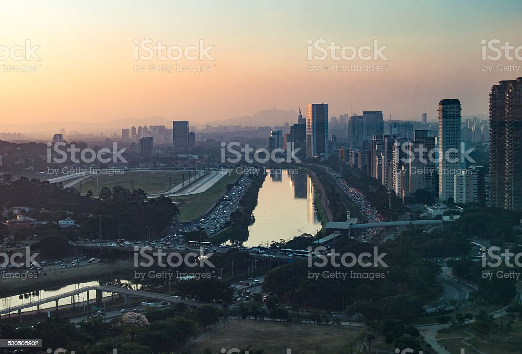 Marginal Pinheiros do Alto stock photo