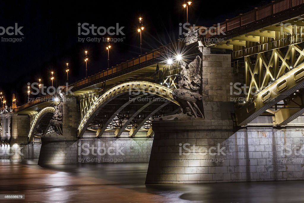 Margit bridge in Budapest royalty-free stock photo