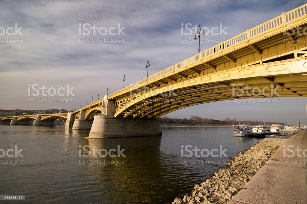 Margit bridge on Budapest stock photo