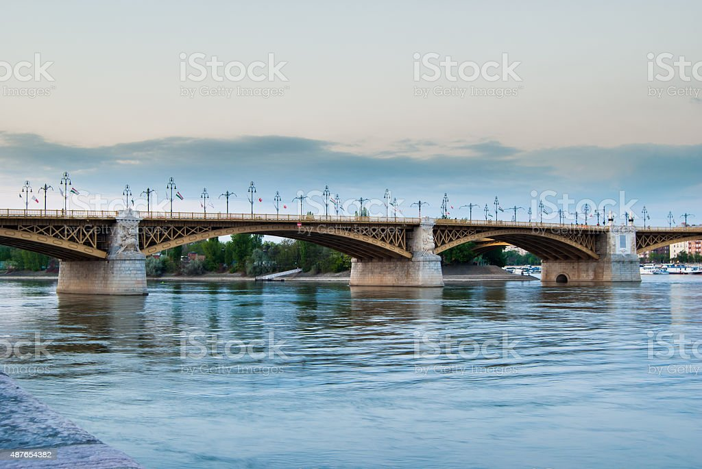 Margit or Margaret Bridge stock photo