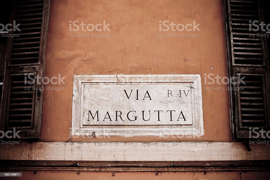 Via Margutta stock photo