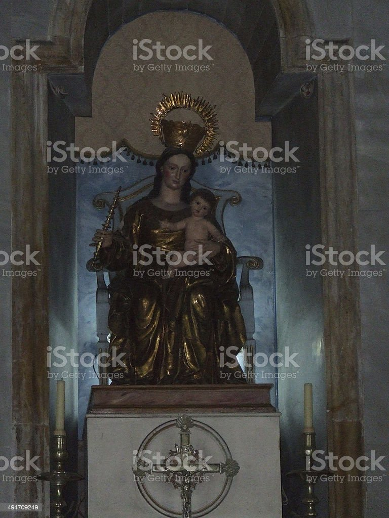 Maria and Jesus royalty-free stock photo