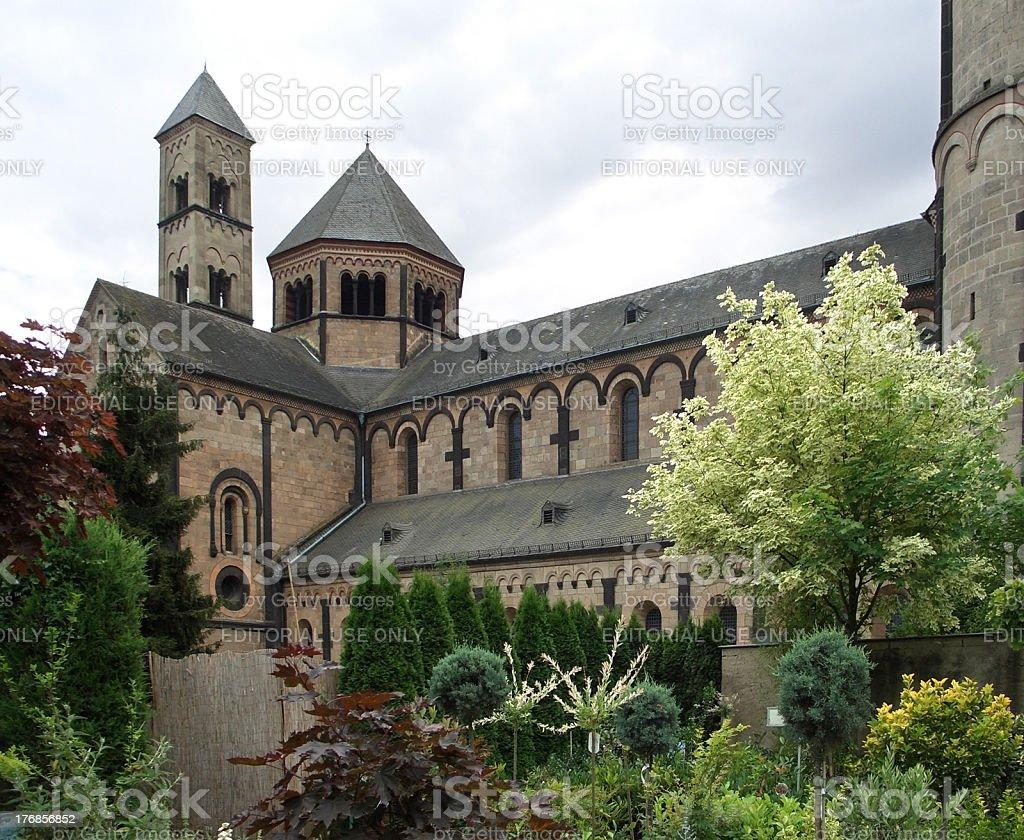 Maria Laach Abbey stock photo