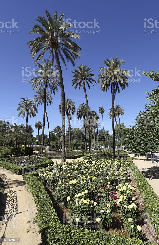 Maria Luisa Park in Seville, Spain royalty-free stock photo