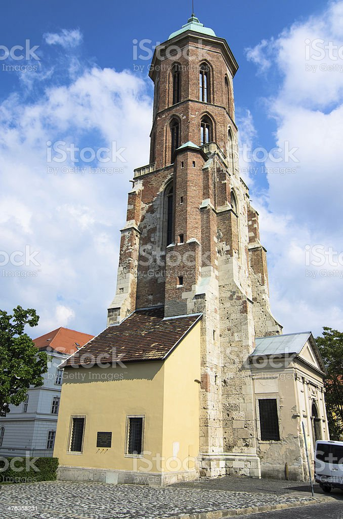 Maria Magdalena Church (Tower), Budapest royalty-free stock photo