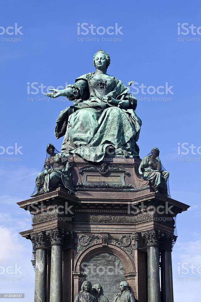 Maria Teresa Monument In Vienna, Austria stock photo