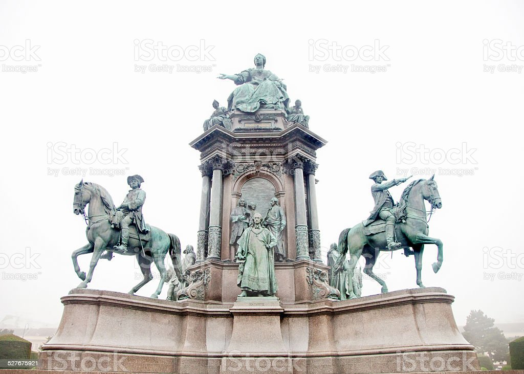 Maria Theresa memorial in Vienna stock photo