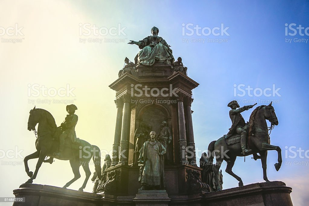 Maria Theresa monument in Vienna stock photo