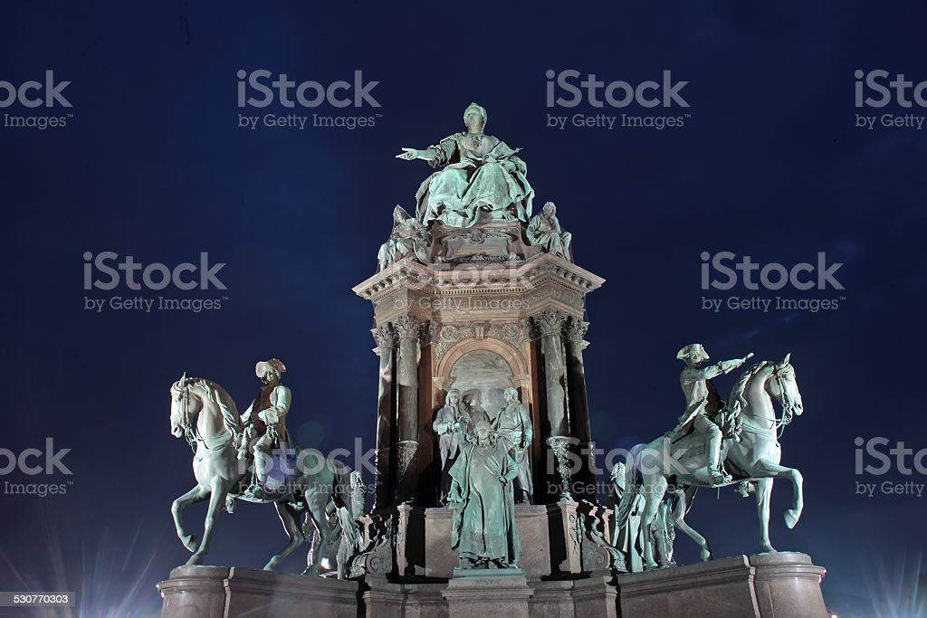 Maria Theresa Monument, Vienna, Austria stock photo