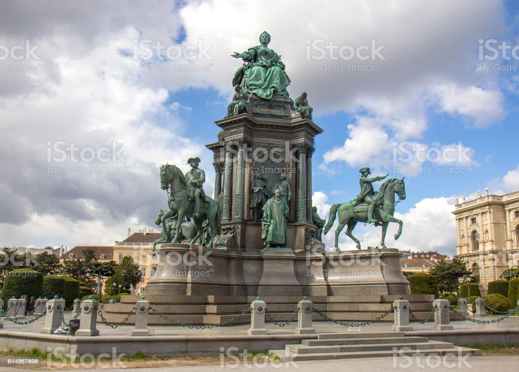 Maria Theresa statue in Vienna, Austria stock photo