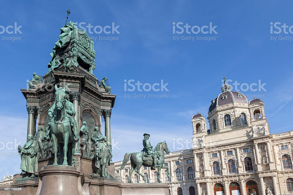 Maria Theresia Monument in Vienna, Austria stock photo