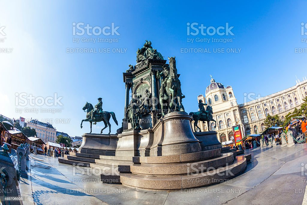 Maria Theresia Monument, in Vienna royalty-free stock photo