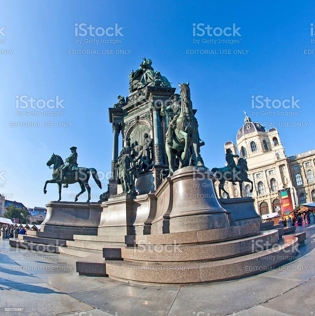 Maria Theresia Monument, in Vienna stock photo