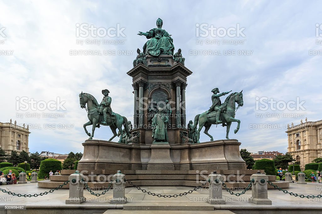 Maria Theresia monument stock photo