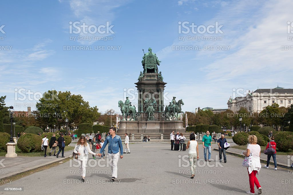 Maria theresia statue stock photo