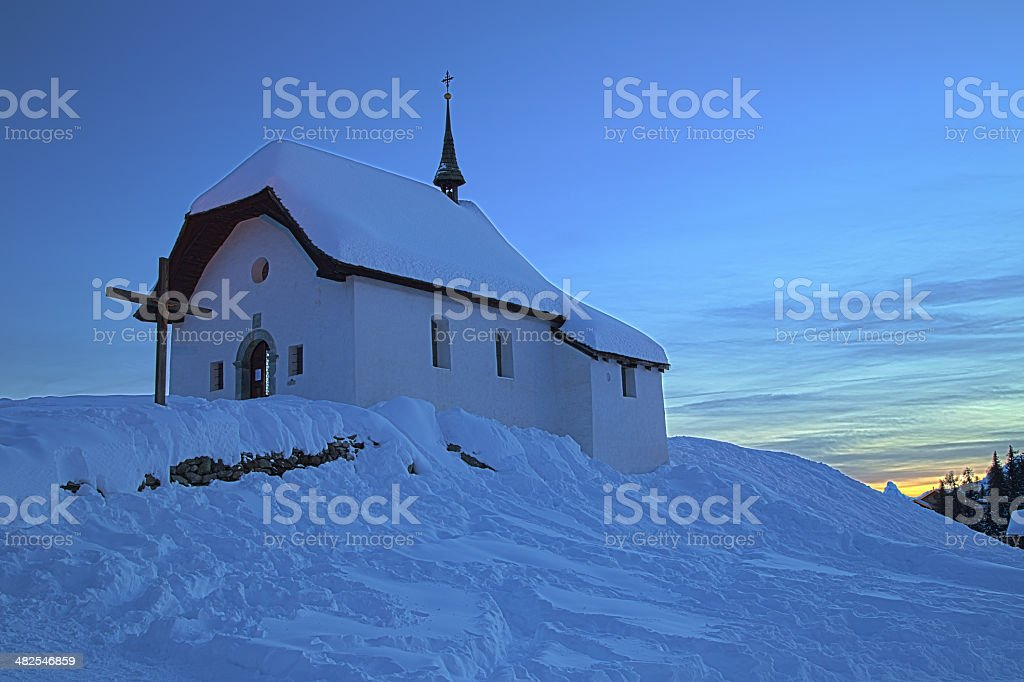 Maria zum Schnee stock photo