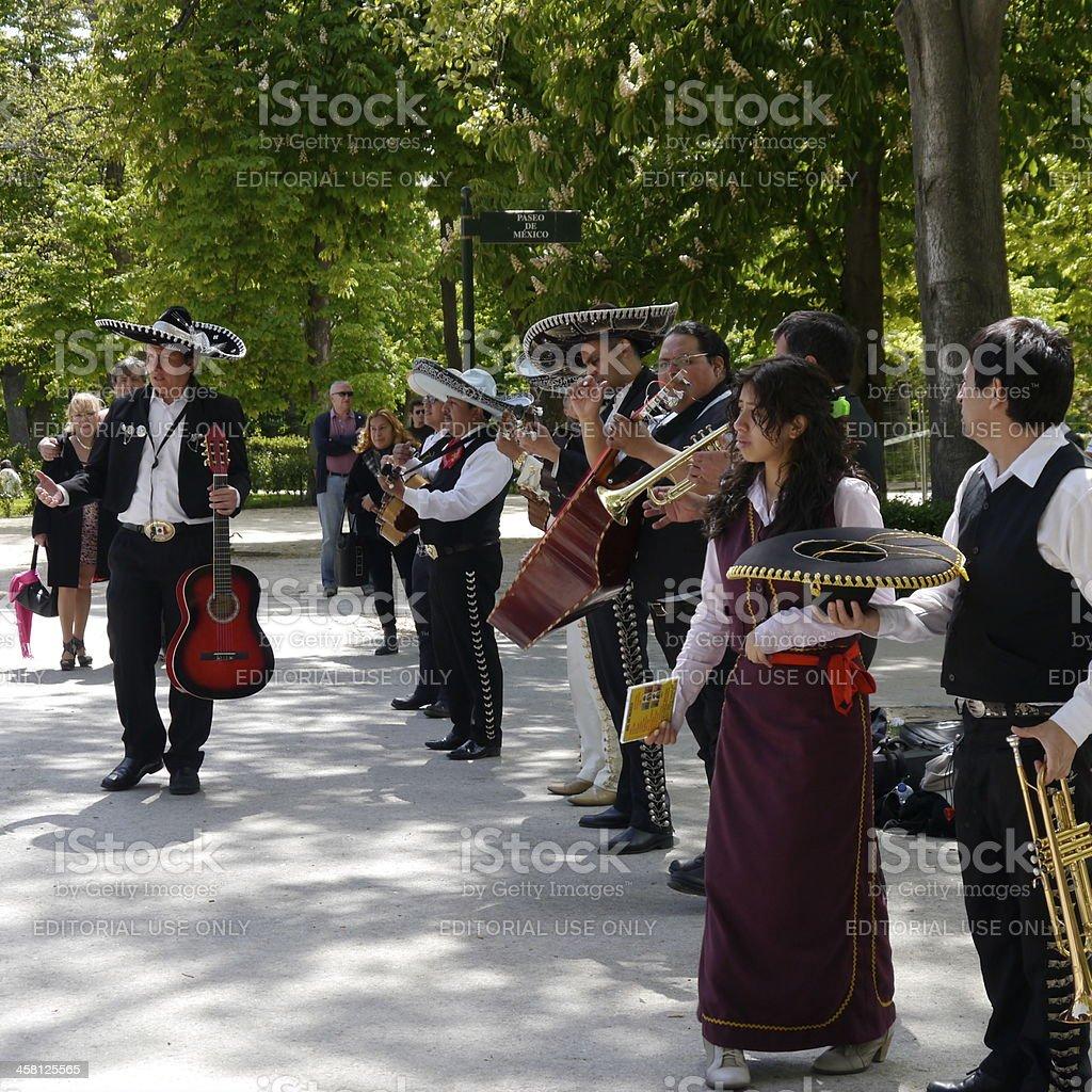 Mariachi Band Madrid stock photo