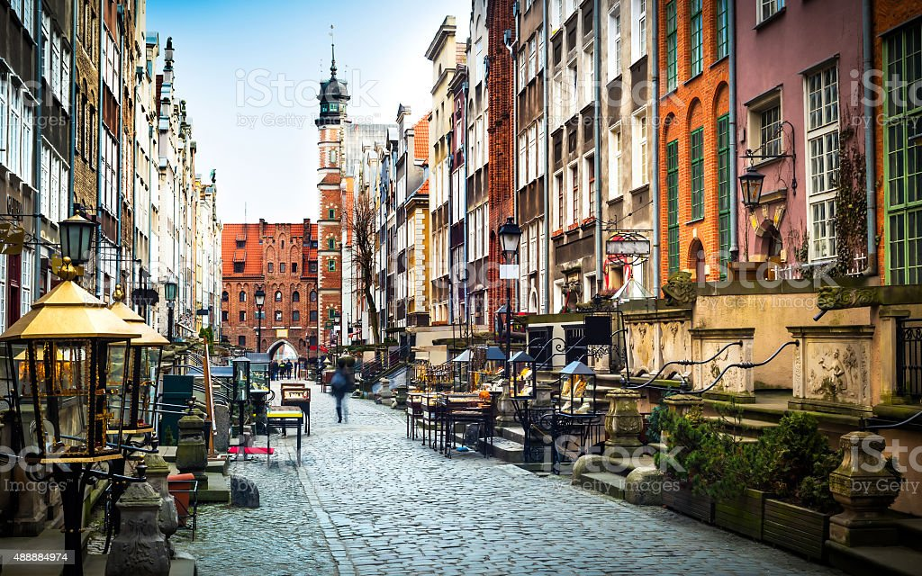 Mariacka street in Gdansk stock photo