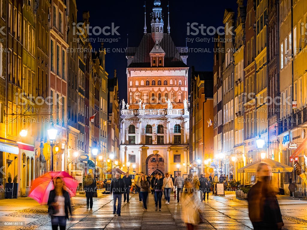 Mariacka Street in Gdansk, Poland stock photo