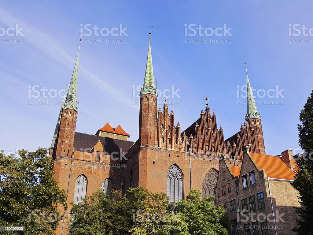 Mariacki Church in Gdansk, Poland stock photo