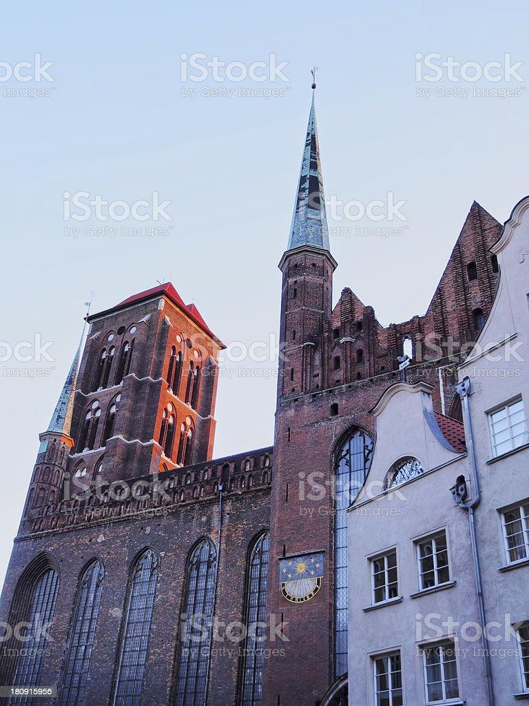 Mariacki Church in Gdansk, Poland stock photo