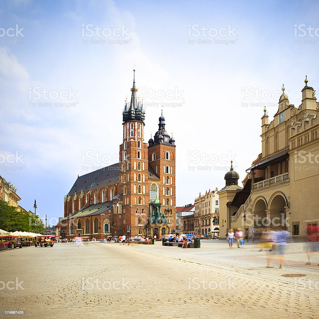 Mariacki Church, Krakow, Poland stock photo