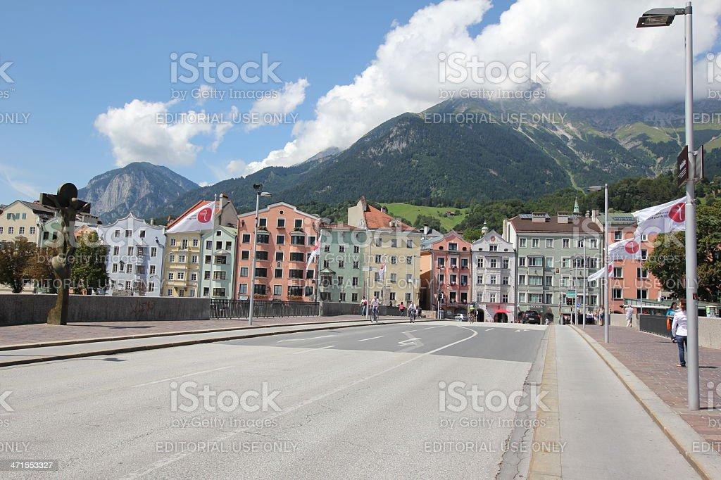 Mariahilf, Promenade,  Innufer, Innsbruck, Tyrol, Austria royalty-free stock photo