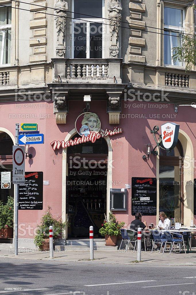 Mariahilferbraeu, Vienna, Austria royalty-free stock photo
