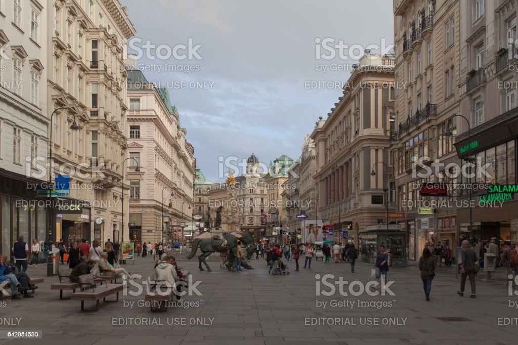 Mariahilferstrasse in vienna stock photo