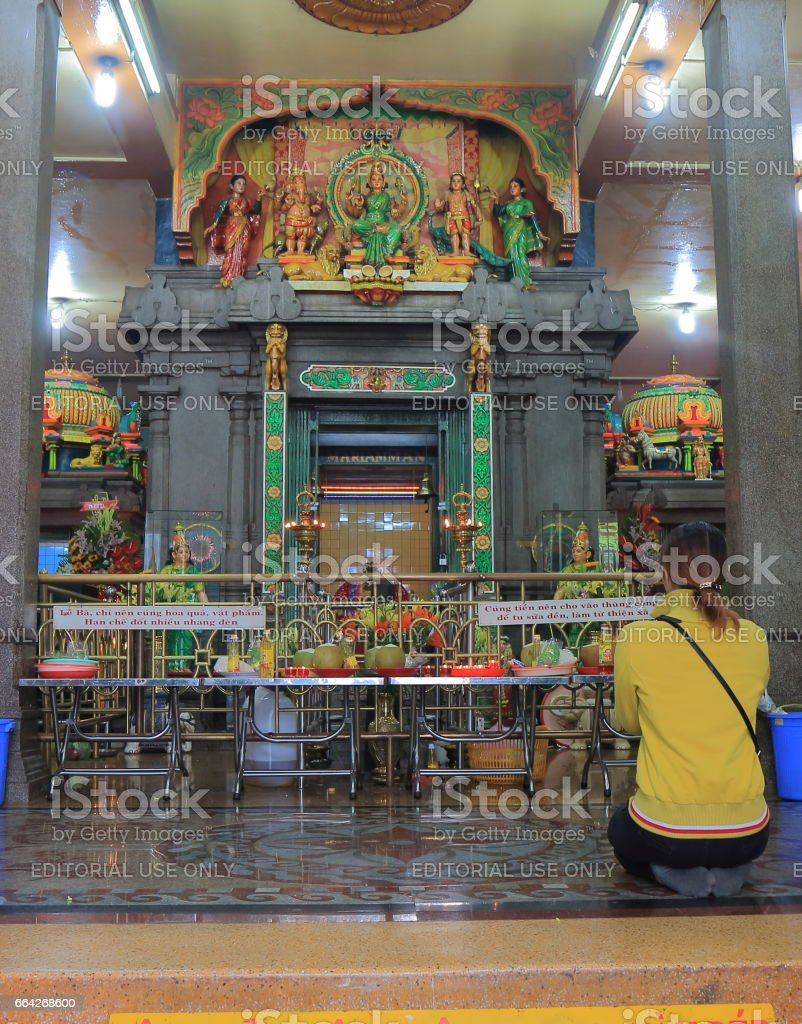 Mariamman Hindu temple Ho Chi Minh City Saigon Vietnam stock photo