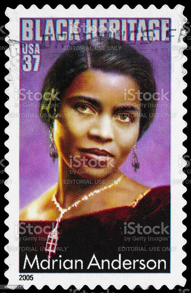USA Marian Anderson postage stamp stock photo