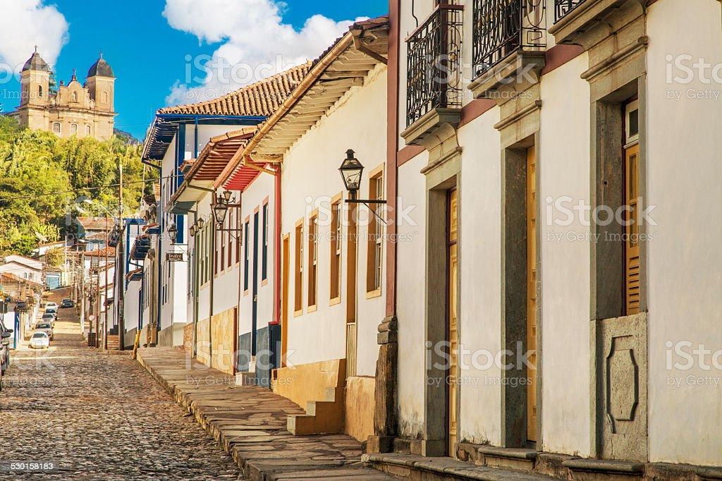 Mariana city in Minas Gerais, Brazil stock photo