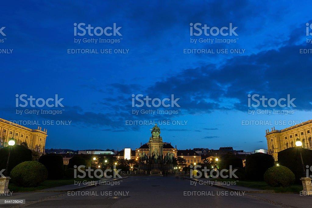 Maria-Theresien-Platz in Vienna in Austria stock photo