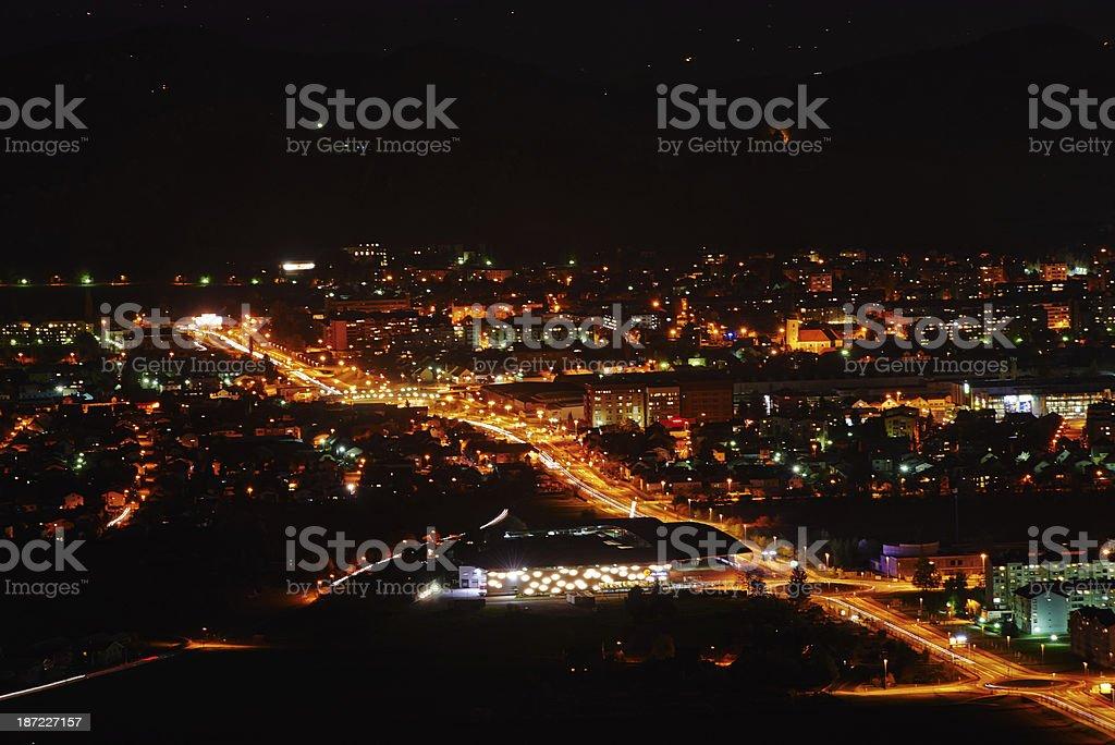 Maribor by night royalty-free stock photo