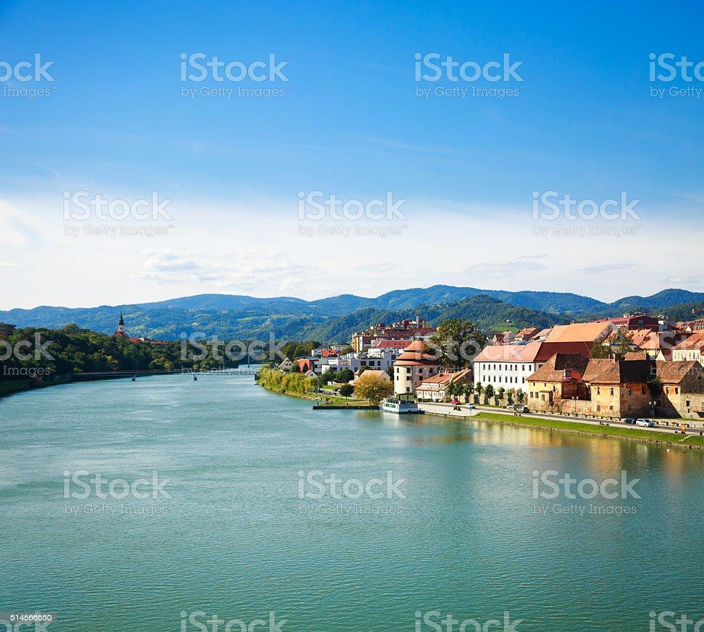 Maribor Old Town View. Slovenia, Europe. stock photo