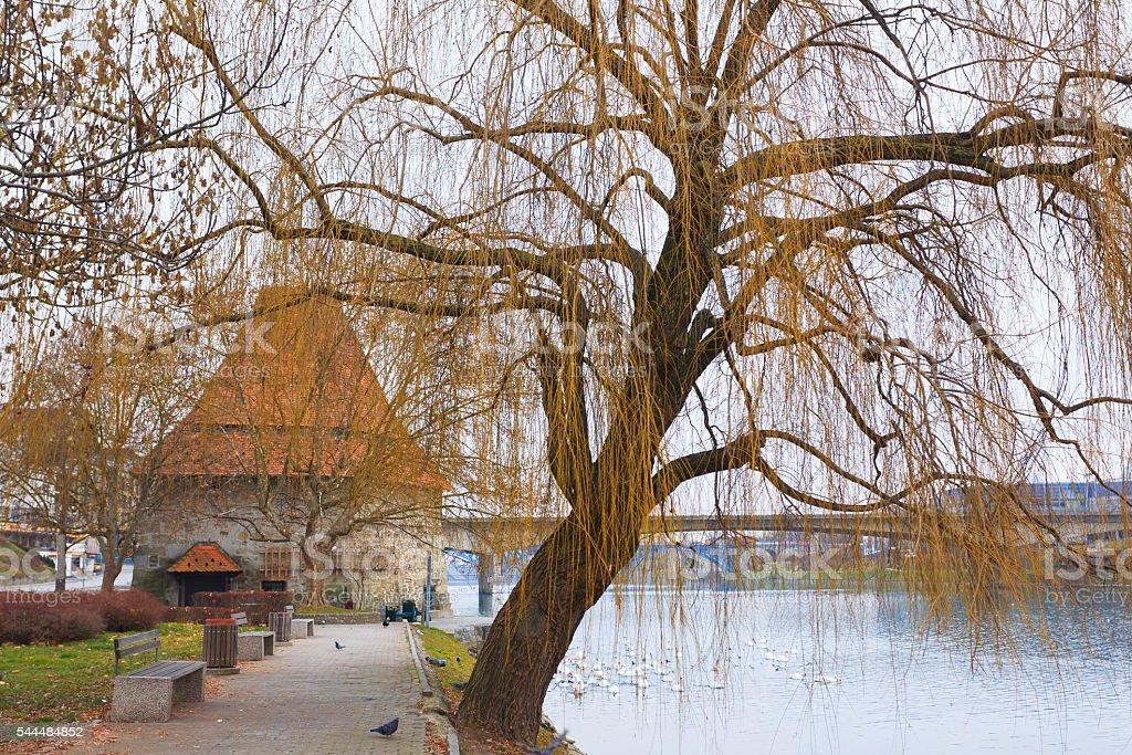 Maribor water tower stock photo