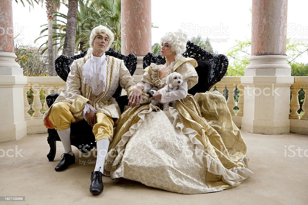 Marie Antoinette couple royalty-free stock photo