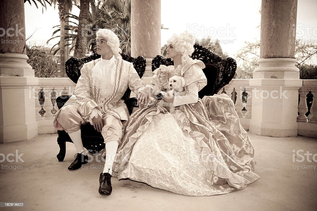 Marie Antoinette couple stock photo